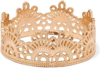 Lee Grace Half Lace 14-karat Gold Ring
