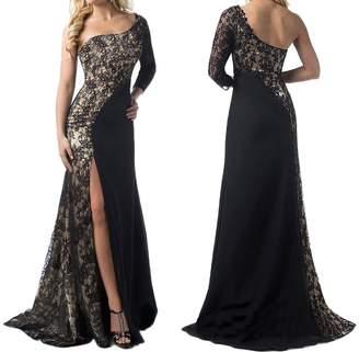 Xoemir Womens Beautiful Swallowtail Bridal Dress Maxi Lace Wedding Gown