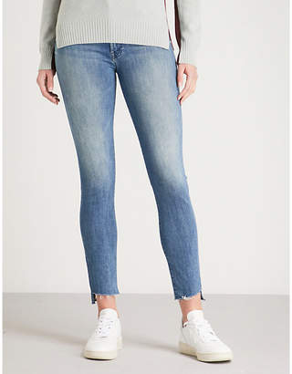 Mother The Stunner Zip Step Fry slim-fit skinny mid-rise jeans