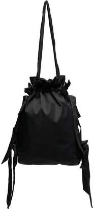 Simone Rocha black bow-detail taffeta shoulder bag