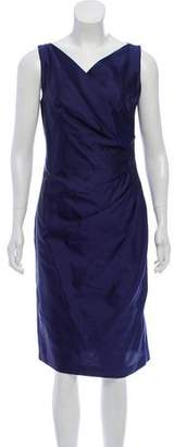 Max Mara Sleeveless Sheath Knee-Length Dress