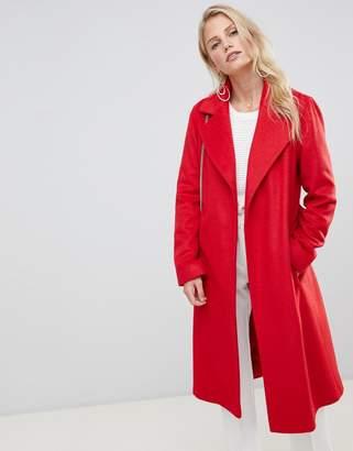 Helene Berman Belted Wrap Coat in Wool Blend