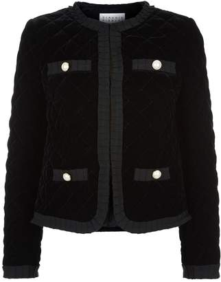 Claudie Pierlot Velvet Quilted Jacket
