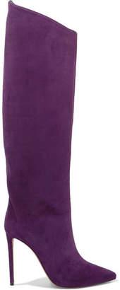 Alexandre Vauthier Alex Suede Knee Boots - Purple