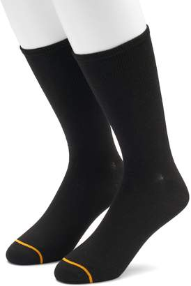 Gold Toe Goldtoe Men's GOLDTOE 2-pack Non-Binding Rayon from Bamboo Crew Socks