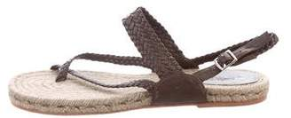 Hermes Woven Leather Espadrille Sandals