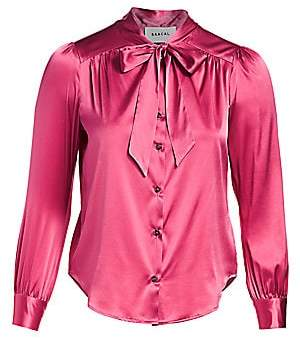 Baacal Women's Tieneck Silk Charmeuse Blouse