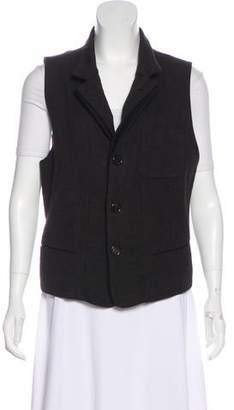 Ann Demeulemeester Wool & Linen-Blend Vest