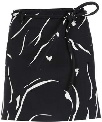 Egrey printed flared skirt