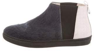 Christian Dior Girls' Ponyhair Slip-On Sneakers