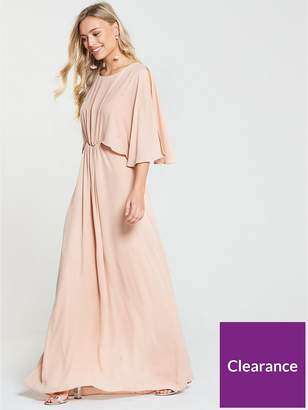Wallis Hotfix Maxi Dress - Nude