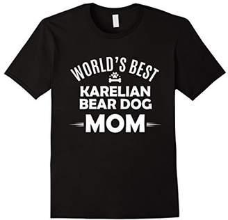 World's Best Karelian Bear Dog Mom T Shirt - Dog Owner Tee