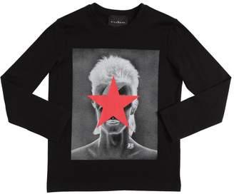 John Richmond David Bowie Cotton Jersey T-Shirt
