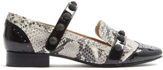 RUE ST. Dean Street python-effect leather loafers