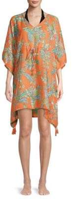 Printed Cover-Up Dress
