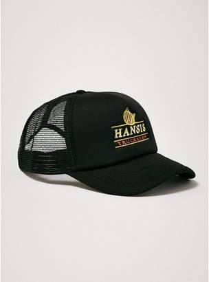 Topman Mens Black 'Hansis Trucker Shop' Trucker Cap