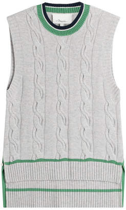 3.1 Phillip Lim Knitted Vest with Wool and Cashmere