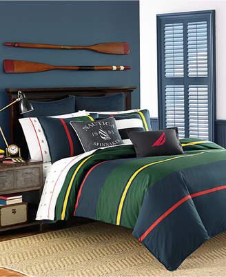 Nautica Heritage Classic 3-Pc. Stripe Full/Queen Comforter Set Bedding