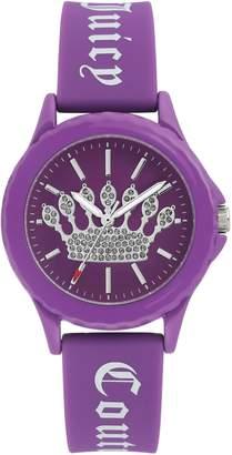 Juicy Couture Ladies' Purple Sparkle Crown Watch