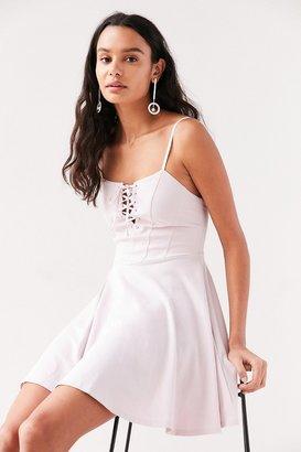 Kimchi Blue Katie Lace-Up Corset Mini Dress $59 thestylecure.com