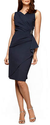 Alex Evenings Ruched Sleeveless Dress
