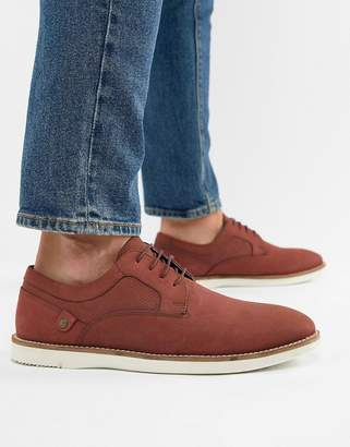 Red Tape Holker Casual Lace Up Shoes In Burgundy