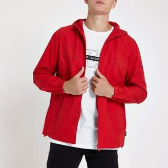 River Island Only and Sons red hooded jacket