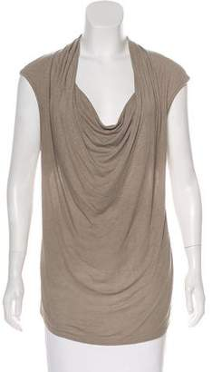 Ella Moss Cowl Neck Cap Sleeve Top