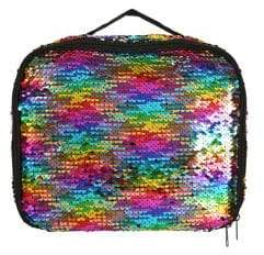 Capelli New York Girl's Reversible Sequin Lunchbox