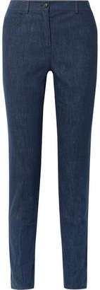Akris Magda Mid-rise Slim-leg Jeans - Dark denim