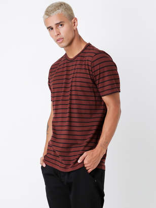 Denham Jeans Signature Crew T-Shirt in Red