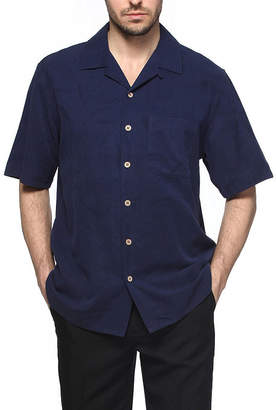 SANDALS CAY Sandals Cay Men's Jacquard Pattern Silk Camp Shirt