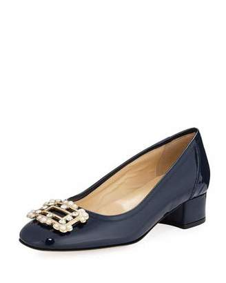 Sesto Meucci Heda Pearly Embellished Pumps, Navy