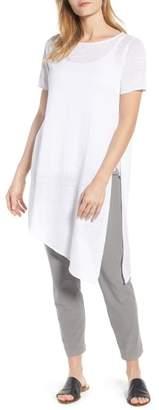 Eileen Fisher Asymmetrical Organic Linen Tunic