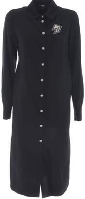 Versace Versus Logo Patched Shirt Dress