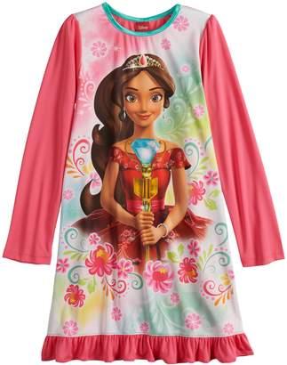 Disney Disney's Elena of Avalor Girls 4-10 Knee Length Dorm Nightgown