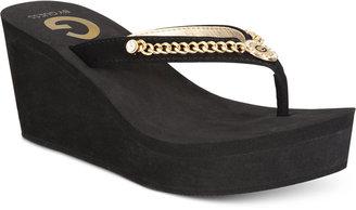 G by GUESS Statuz Platform Sandals $29 thestylecure.com
