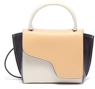 Atelier Atp Montalcino' colourblock mini top handle leather bag