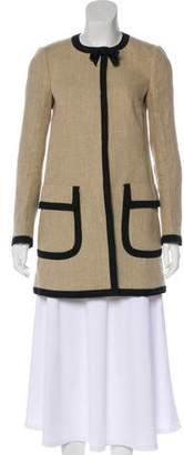 RED Valentino Bow-Accented Linen Coat