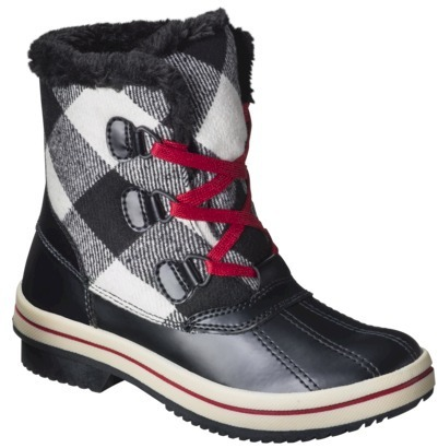 Merona Women's Norma Snow Boots - Black/White