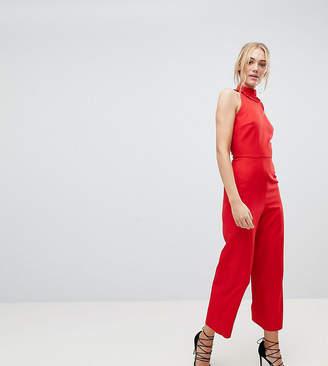Fashion Union Tall Sleeveless Wide Leg Jumpsuit With Ruffle Collar