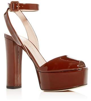 Giuseppe Zanotti Women's Patent Leather High Block-Heel Platform Sandals