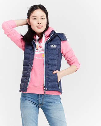 Superdry Fuji Double Zip Slim Puffer Vest