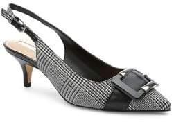 Tahari Stroll Plaid Slingback Heels