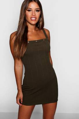 boohoo Petite Eyelet Detail Bandage Bodycon Dress