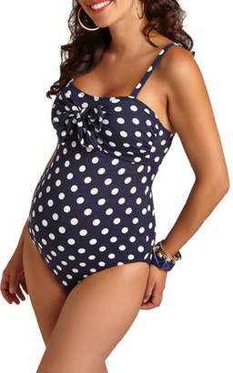 Pez D'or Maternity Polka-Dot One-Piece Swimsuit