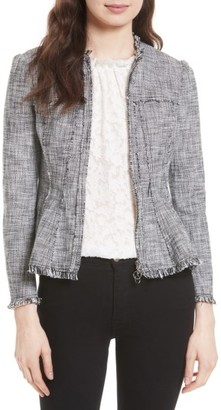 Women's Rebecca Taylor Tweed Peplum Jacket $475 thestylecure.com
