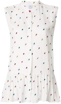 Paul Smith printed sleeveless blouse