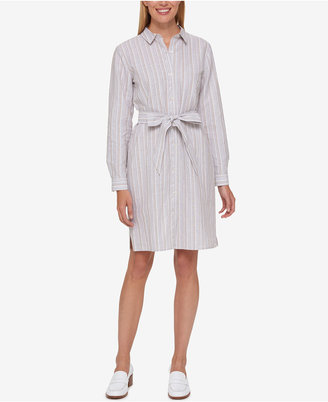 Tommy Hilfiger Striped Shirtdress, Only at Macy's $99.50 thestylecure.com