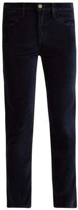 Frame Le Velveteen Cotton Blend Velvet Jeans - Womens - Navy